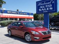 Options:  2014 Nissan Altima 2.5 S|Red|Cvt With