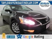 2014 Black Nissan Altima 2.5 S    CVT with Xtronic.