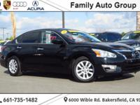 Clean CARFAX. Super Black 2014 Nissan Altima 2.5 S FWD