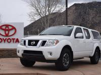 4WD. Clean CARFAX. White 2014 Nissan Frontier 4D Crew