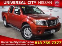 Clean CARFAX. Certified. Red 2014 Nissan Frontier SV 4D