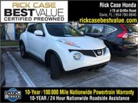 Recent Arrival! Clean CARFAX. White 2014 Nissan Juke SV