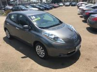 Options:  2014 Nissan Leaf S|Gray|16 Steel Wheels