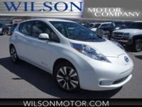 CARFAX One-Owner. Pearl White 2014 Nissan Leaf SL FWD