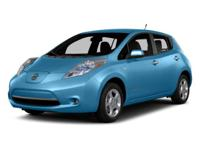Leaf SV w/Quick Charge. 0% APR FINANCING FOR 60 MONTHS.