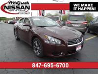 2014 Nissan Maxima Certified Warranty and CarFax One