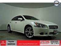 Clean CARFAX. Certified. White 2014 Nissan Maxima 3.5