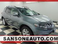 CARFAX One-Owner. Gray 2014 Nissan Murano SL AWD CVT