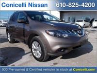 AWD, CarFax One Owner! This Nissan Murano is CERTIFIED!