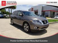 Brown 2014 Nissan Pathfinder Platinum FWD CVT with