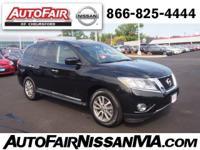 Nissan Certified, CARFAX 1-Owner. SUPER BLACK exterior
