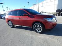 CARFAX One-Owner. Cayenne Red 2014 Nissan Pathfinder S