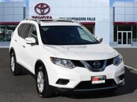 Moonlight White 2014 Nissan Rogue SV AWD CVT with