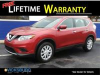 Options:  2014 Nissan Rogue S|Red|New Price! Awd. 32/25