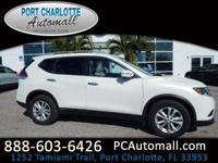 CARFAX One-Owner. White 2014 Nissan Rogue SL FWD CVT