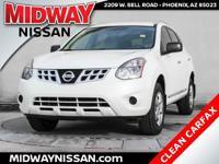 2014 Nissan Rogue Select S White 2.5L I4 DOHC 16V 28/23