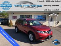 CARFAX One-Owner. Red 2014 Nissan Rogue SV AWD CVT with