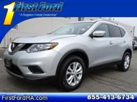 Clean CARFAX. Certified. Gray 2014 Nissan Rogue AWD SV