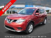Options:  2014 Nissan Rogue Sv|Red|New Price! Carfax