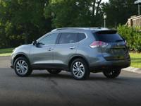 Clean CARFAX. Moonlight White 2014 Nissan Rogue SV FWD