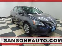 CARFAX One-Owner. Gray 2014 Nissan Sentra S FWD CVT