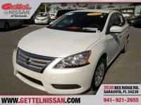 Options:  2014 Nissan Sentra S|White|**One Owner**
