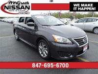 2014 Nissan Sentra SR Certified Warranty and CarFax One