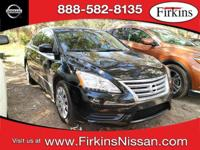 CARFAX One-Owner. Super Black 2014 Nissan Sentra S FWD