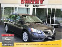 New Price! 2014 Nissan Sentra SL CARFAX One-Owner.