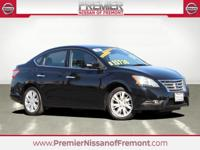 Clean CARFAX. Certified. Super Black 2014 Nissan Sentra