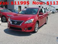 CARFAX One-Owner. Red Brick 2014 Nissan Sentra SR FWD
