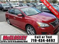2014 Nissan Sentra SR One Owner with Power windows and