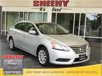 New Price! 2014 Nissan Sentra SV CARFAX One-Owner.