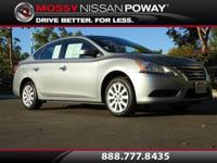 Sentra SV, Nissan Certified, Magnetic Gray, and