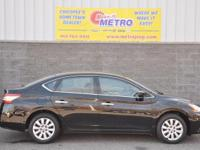2014 Nissan Sentra SV  in Black and CLEAN CARFAX. 1.8L