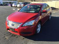 2014 nissan sentra red, only 36k miles! Call us today