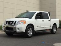 Clean CARFAX. White 2014 Nissan Titan SV RWD 5.6L