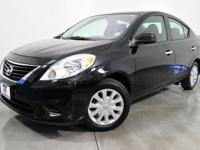 CARFAX One-Owner. Super Black 2014 Nissan Versa 1.6 S