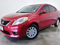 CARFAX One-Owner. Red Brick 2014 Nissan Versa 1.6 S