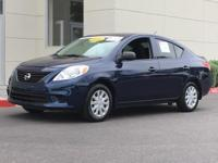 2014 Nissan Versa 1.6 S 35/26 Highway/City MPG We