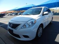 We are excited to offer this 2014 Nissan Versa. When