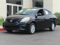 Super Black 2014 Nissan Versa 1.6 S Plus FWD 1.6L I4