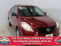 Red Brick 2014 Nissan Versa 1.6 S Plus FWD CVT with