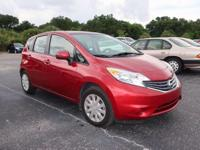 Clean CARFAX. Red 2014 Nissan Versa Note SV FWD CVT