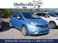 CARFAX One-Owner. Blue 2014 Nissan Versa Note FWD 1.6L