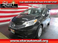 Black 2014 Nissan Versa Note S FWD 5-Speed Manual 1.6L