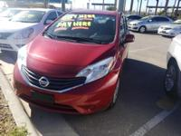 Red 2014 Nissan Versa Note FWD CVT with Xtronic 1.6L