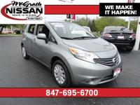 2014 Nissan Versa Note SV Certified Warranty and CARFAX
