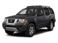 2014 Nissan XterraX in Super Black, POWER WINDOWS,