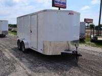 2014 Pace American Enclosed Trailer 7'x14' Tandem